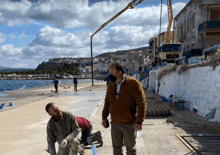Ξεκίνησαν τα έργα αποκατάστασης στο Λιμάνι Πύλου